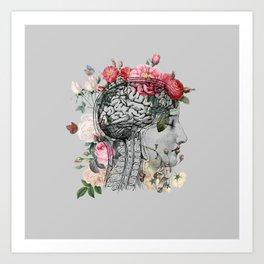 Beautiful Brain ~ Gray Art Print