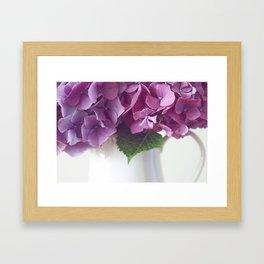 Daydreams in Hydrangea Framed Art Print