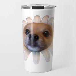 Flower Doggo Travel Mug