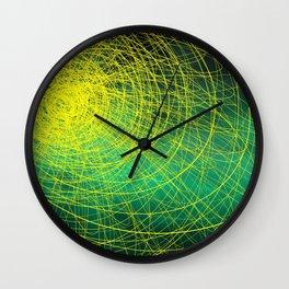 Green Complex Yellow Wall Clock