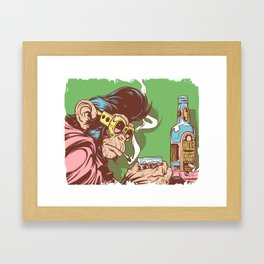 Knuckle Dragger Framed Art Print