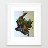 colombia Framed Art Prints featuring COLOMBIA by MikAnsart