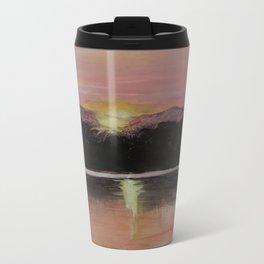 Grundy Lake Sunset Metal Travel Mug