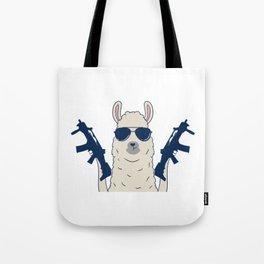 Herd Goat Camel Fur Shooting Motherfuckers T-shirt Design Pew Pew Madafakas Sarcastic Guns Herd Tote Bag