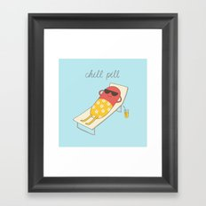 chill pill Framed Art Print