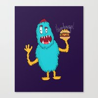 hamburger Canvas Prints featuring Hamburger! by Chelsea Herrick