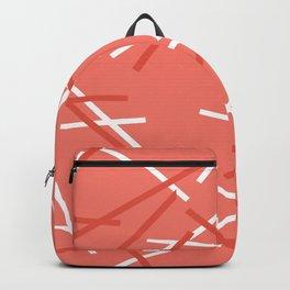 Coral Mikado pattern Backpack
