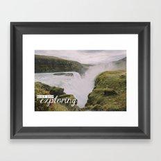 Gullfoss, Iceland - Never Stop Exploring Framed Art Print