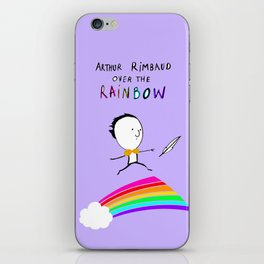 ARTHUR RIMBAUD OVER THE RAINBOW iPhone Skin
