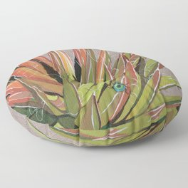 Yucca filifera with beetle Floor Pillow