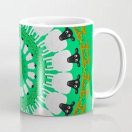 Sheep Pasture Mandala Design Coffee Mug