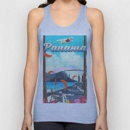 Panama flight travel poster. Unisex Tank Top