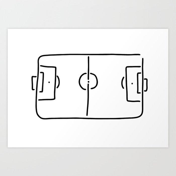 Soccer Football Field Art Print By Lineamentum Society6