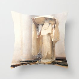 Fumée d'Ambre Gris - Smoke of Ambergris by John Singer Sargent Throw Pillow