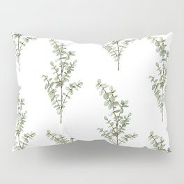 Baby Blue Eucalyptus Watercolor Painting Pillow Sham
