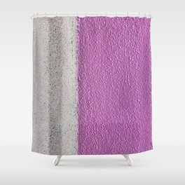 Pink To Gray Pattern Shower Curtain