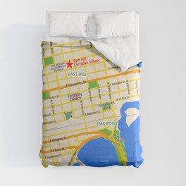 Map of Pensacola, FL - East Hill Christian School Comforters