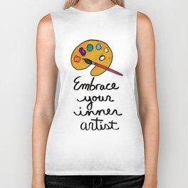 Embrace Your Inner Artist Biker Tank