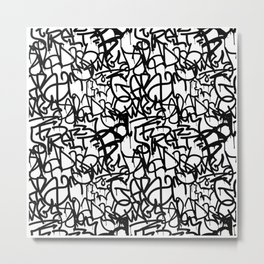 Graffiti Pattern | Street Art Urban Graphic Metal Print