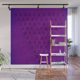 Abracadabra Reversed Pyramid in Violets Wall Mural