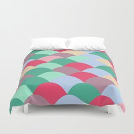 Red Scoops Duvet Cover