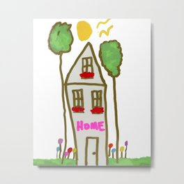 Happy Home Metal Print