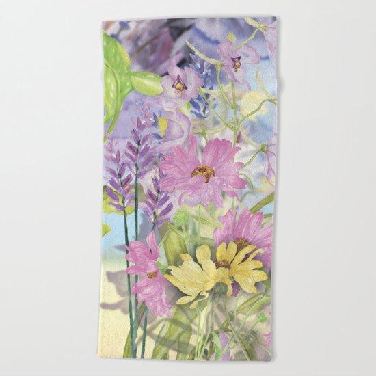 Macro Flower #19 Beach Towel