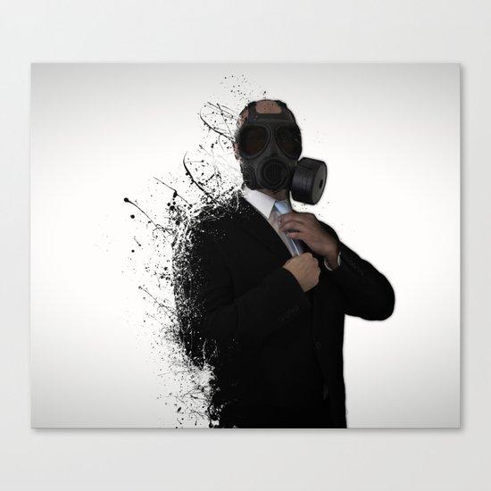 Dissolution of man Canvas Print