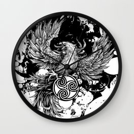 Phoenix Rising Wall Clock