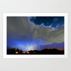 On the Wings of the Night Art Print