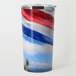 Costa Rica's Flag Travel Mug