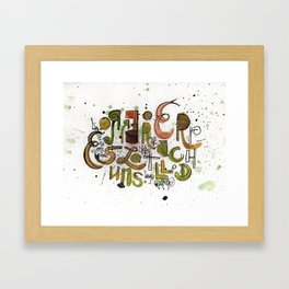 Type cluster Framed Art Print