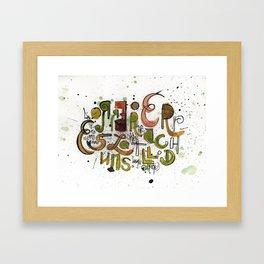 Type cluster Framed Art Print