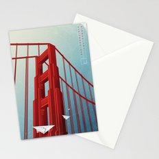 Golden Gate Bridge Travel Poster Stationery Cards