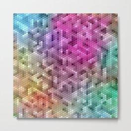 Cool Rainbow Color Mosaic Metal Print