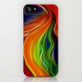 Rainbow Mountain on Fire iPhone Case