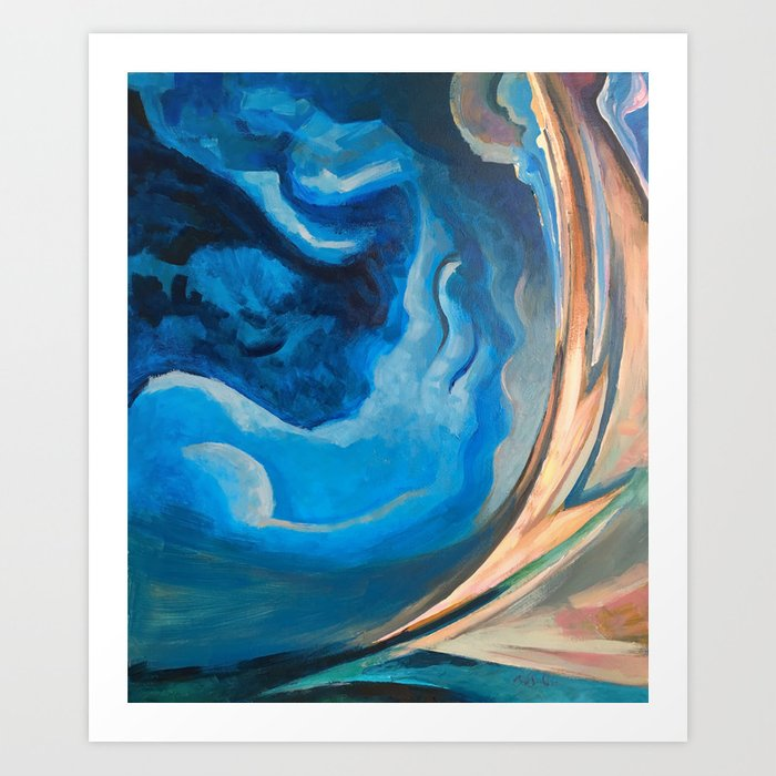 Storm - Summer Night Art Print