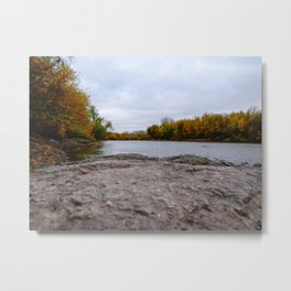 Fall Lake Landscape Metal Print