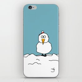 Eglantine la poule (the hen) dressed up as a snowman. iPhone Skin