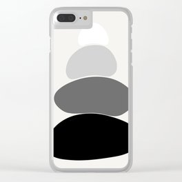 b&w 2 Clear iPhone Case