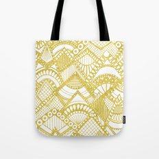 Golden Doodle mountains Tote Bag