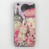 loll3 iPhone & iPod Skins featuring Noodle Eater by lOll3