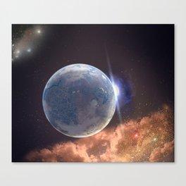 Beyond Infinity   Perilous terraforming Canvas Print