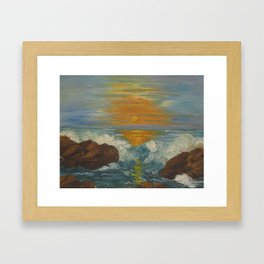 Sunset Seascape Framed Art Print