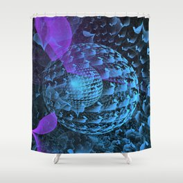 Spherical Abstract Shower Curtain