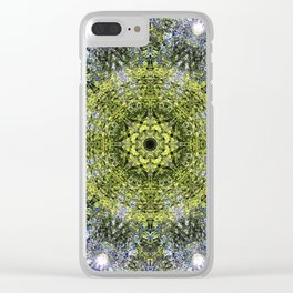 Light Shining Through a Tree Fractal Clear iPhone Case