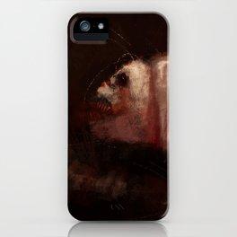 Rabid fish water horror strange creature concept art dark digital illustration painting iPhone Case