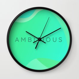 Tunnel Vision - Ambitious Wall Clock