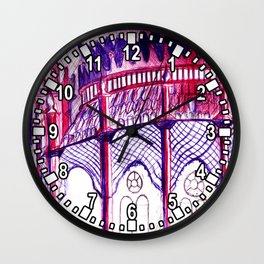 Pavillion at Night Wall Clock