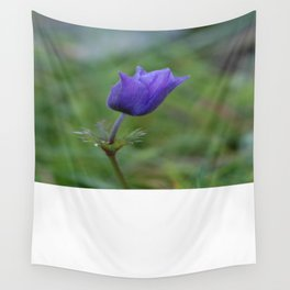 Lone Blue-Purple Anemone Wall Tapestry